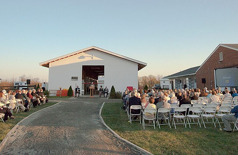 Fout Barn dedication ceremony